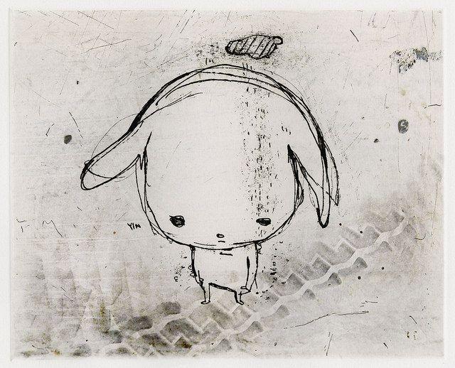 コバヤシ麻衣子 Maiko Kobayashi Tokyo-001 Etching x 1+giclee Edition 50 205 x 255mm