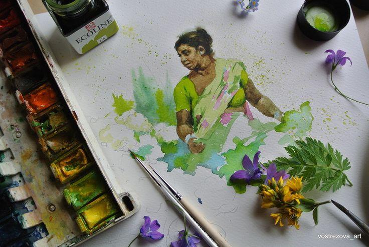 Добрый день! В апреле я показывала в сообществе свой индийский скетчбук. http://art-expiration.livejournal.com/89 7554.html Индийская тема меня настолько вдохновила, что я решила ее…