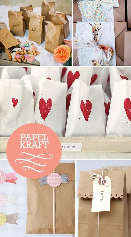 Bolsitas de regalos hechas de papel kratf