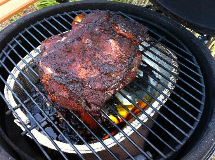 Pork Shoulder on the Big Green Egg                              …