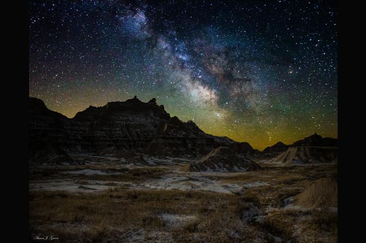 Milky Way Badlands 3  by Aaron J. Groen