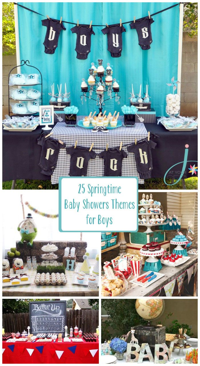 25 springtime baby shower themes for boys baby boy baby for Baby boy baby shower decoration ideas