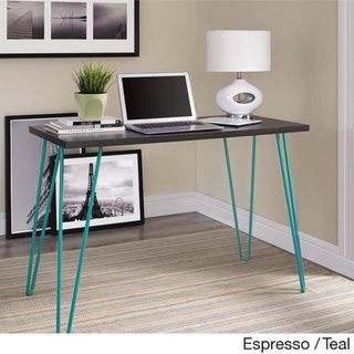 Retro hairpin desk.  Love the teal legs.  It would be perfect for my living room space!   Altra Owen Retro Desk   Overstock™ Shopping - Great Deals on Altra Desks