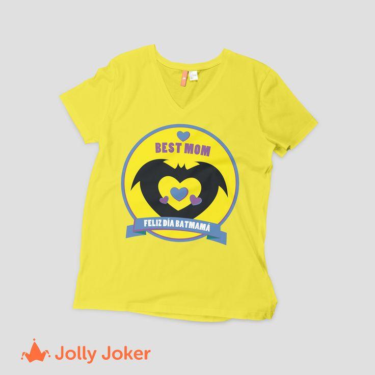 ¡BAT MAMÁ! Más que eso, una amiga! Recuerdale lo importante que es para ti, con una camiseta increíble del día de la madre! Diseñala en Jolly Joker y ordenala super fácil. Porque el día de la madre es todos los días :D