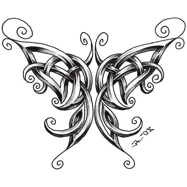 jewelry online Best Celtic Butterfly Tattoo Design