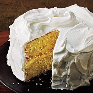 Vanilla+Cake+with+Italian+Meringue+Frosting+|+MyRecipes.com