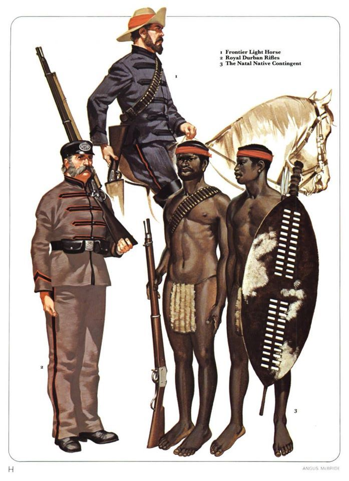 1:Frontier Light Horse.2:Royal Durban Rifles.3:The Natal Native Contingent.