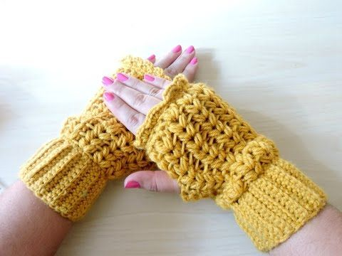 Mitones de Ganchillo - Crochet Mittens - Tutorial paso a paso - YouTube