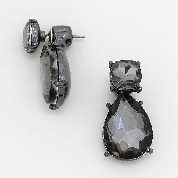Simons Monochrome bead double-sided earrings 3ezmgWEw
