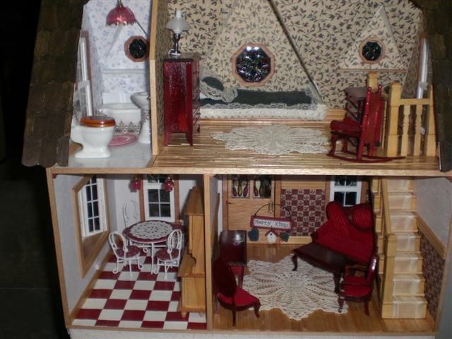 Dollhouse Miniature Hanging Lamps Dejoux Miniatures