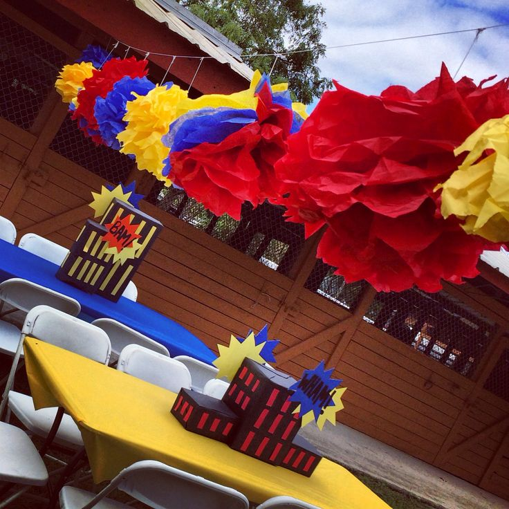 Super hero party Decorated by us!