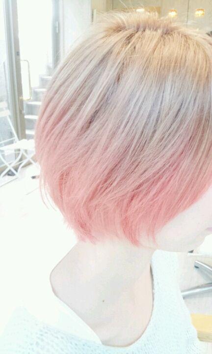ピンクベージュ ヘアカラー ホワイトピンクベージュ ヘアカラー 薄ピンク 髪色 キャンディピンク|外国人風 ヘアカラー オシャレブログ 美容室のブログ