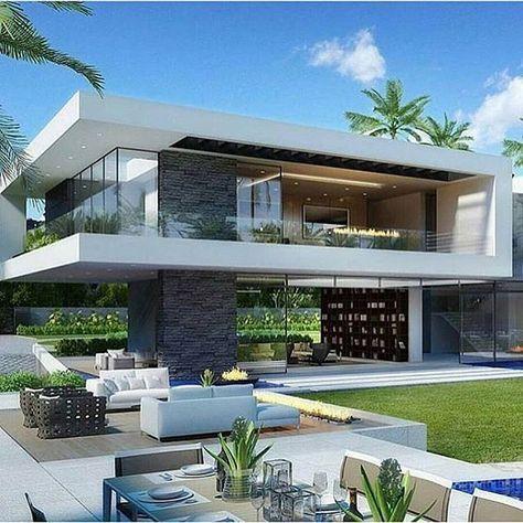 8 Pines de arquitectura más populares esta semana | προσοψεις | House design, Modern mansion, Modern house design