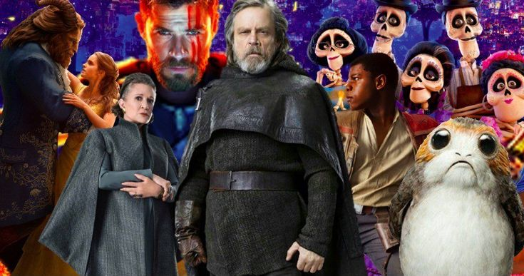 Disney Is 2017's Biggest Box Office Winner -- With the help of The Last Jedi and Beauty and the Beast, Disney topped the box office for a second year in a row. -- http://movieweb.com/disney-2017-biggest-box-office-star-wars/