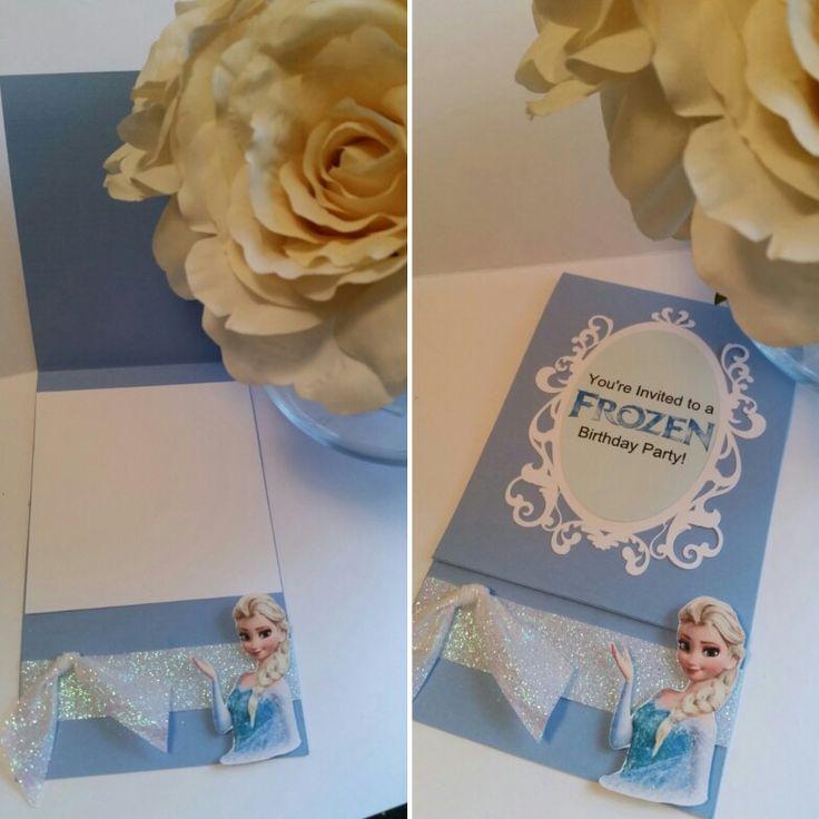 Frozen Invitations, Princess Invitations, Disney Princess, Elsa, Birthday Party Invitations, Invites, Girl Birthday, Invite ideas