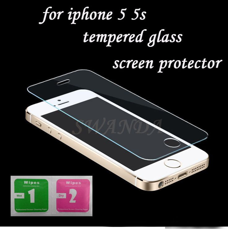 Für iphone 5 s gehärtetem glas für iphone 5 s displayschutzfolie für iphone 5 glas 9h2. 5d 0,3mm harten bildschirm film für iphone 5 glas
