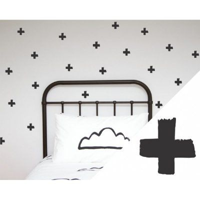 The perfect way to add some style and design to any space. These awesome brushed crosses wall stickers are so easy to apply and so versatile - create the look you want. Perfect for the bedroom, nursery, toy room, anywhere really! Each pack contains 48 stickers. Each sticker measures approximately 6.5cm Each pack comes with easy to follow instructions. Easy to apply, the stickers are repositionable but the more you move them, the less sticky they will become. This product is meant to be used…