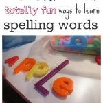 fun ways to learn spelling words. Stair step idea and the water painting