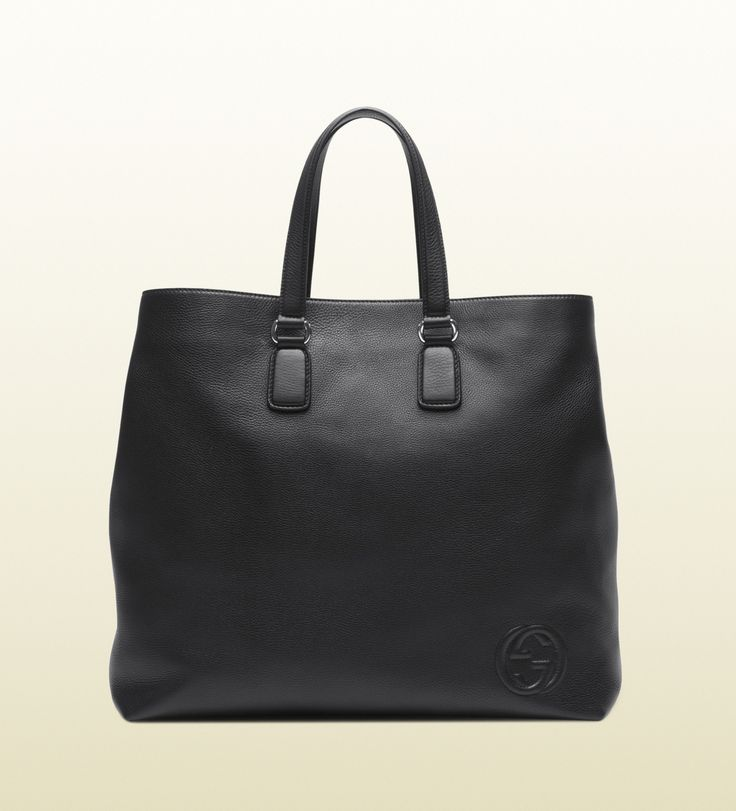 Gucci - black leather tote 322060A7M0N1000