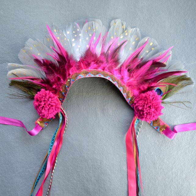 Pom - Vibrant Festival Headdress - Feather Crown £45.00