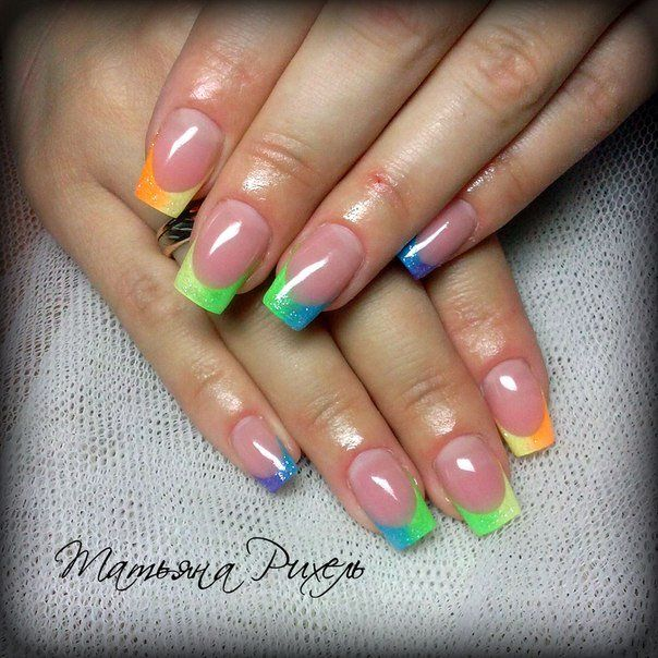 Best Nail Colours Summer 2016: Best 25+ Color French Manicure Ideas On Pinterest