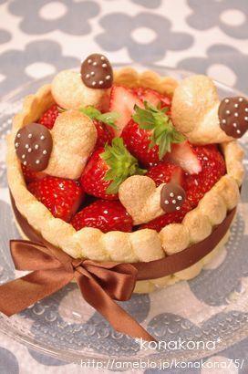 +バースデーケーキ+チョコムースのシャルロット