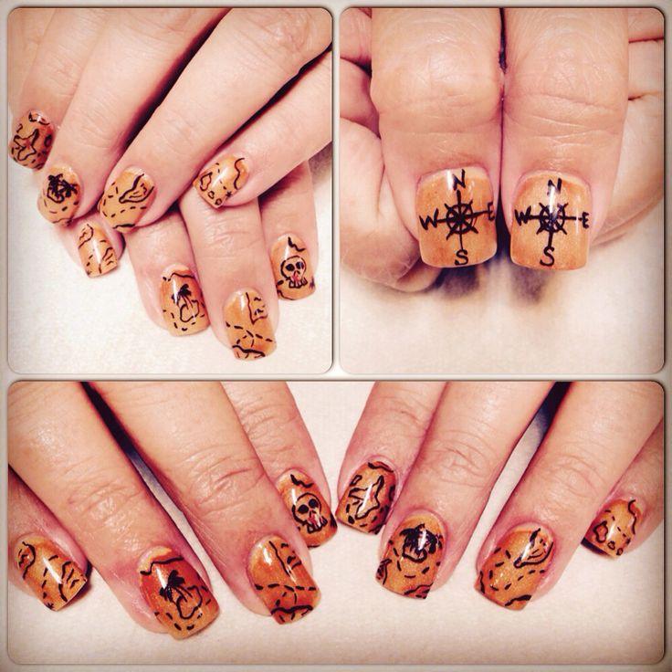 Pirate nails! #nailtemptationzangireed #halloween #pirate ...