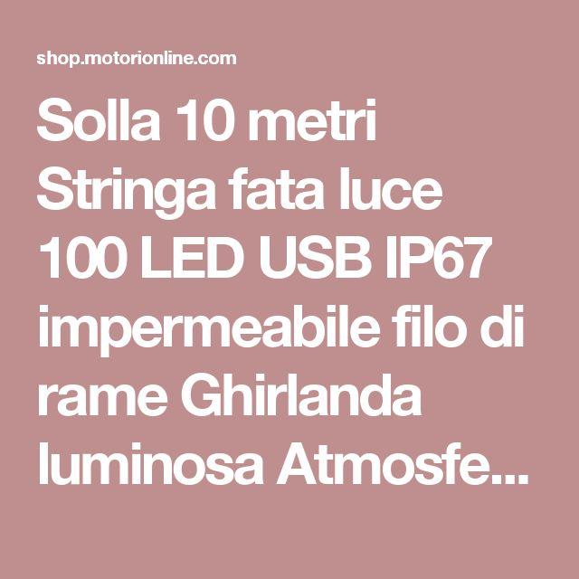 Solla 10 metri Stringa fata luce 100 LED USB IP67 impermeabile filo di rame Ghirlanda luminosa Atmosfera decorazione di Natale /Festa /Sera /Anniversario /Casa /Ristorante /Giardino /Bar/ Albero/Compleanno Bianco caldo