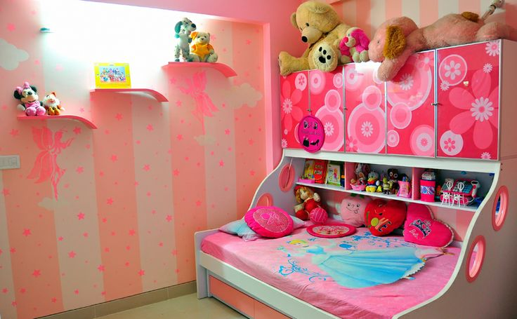 Pink Kids Room By Abhishek Chadha Residential Interior Designer India Kid