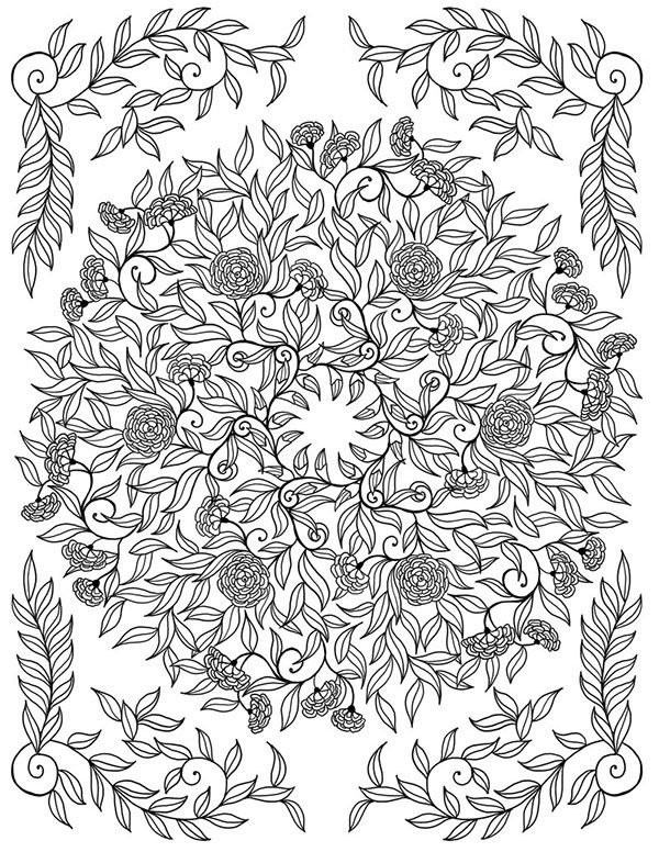 113 best images about coloring pages on pinterest adult for Jardin interieur