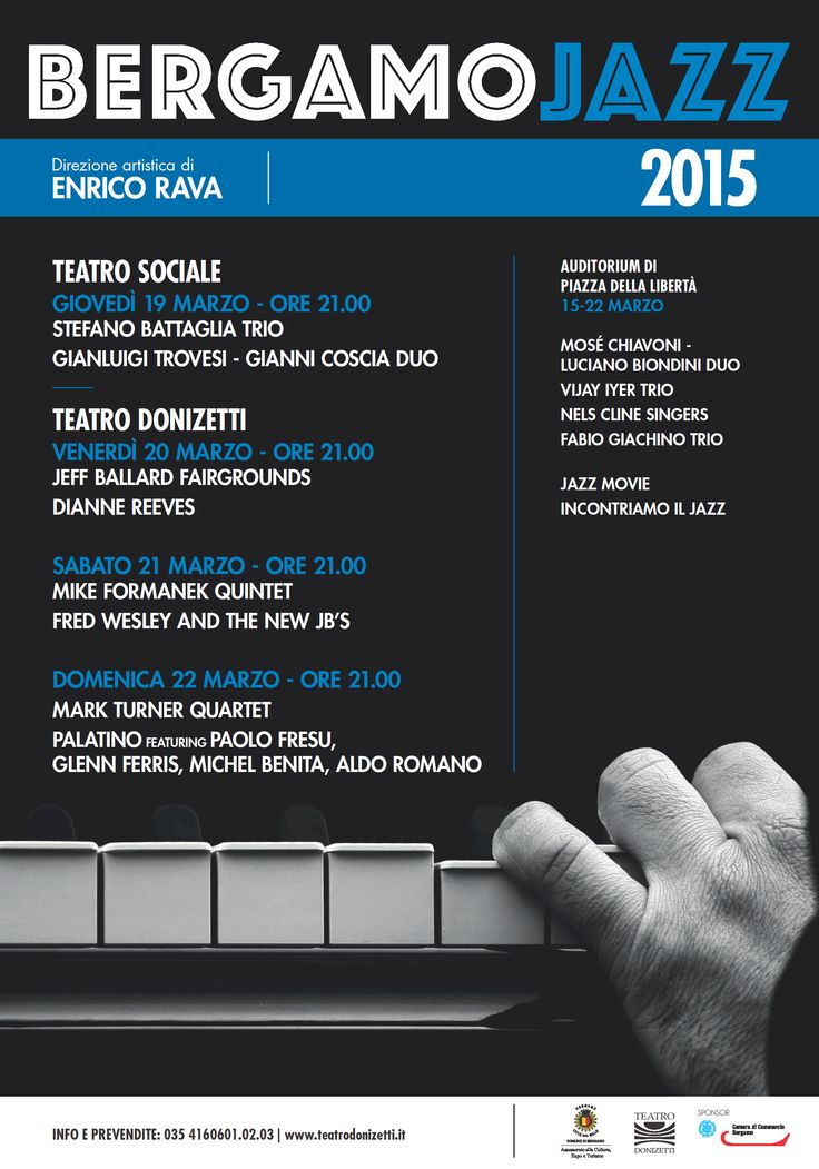 Locandina dell'edizione 2015 della rassegna Bergamo Jazz