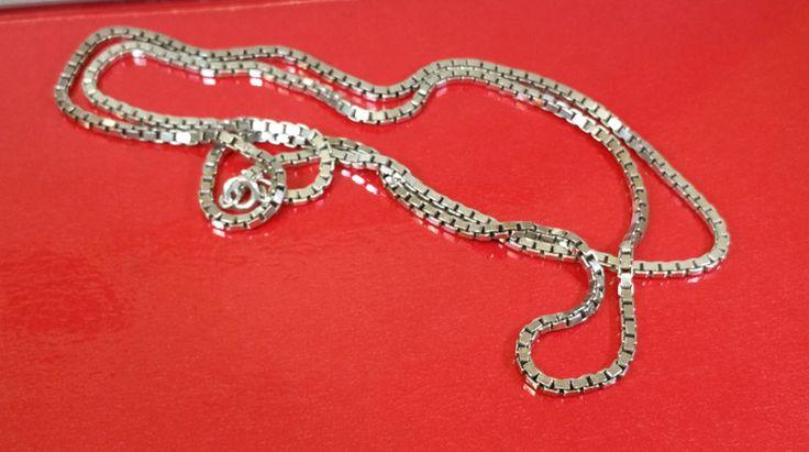 Vintage Halsschmuck - 76,5 cm/2,1 mm Venezianerkette Silber 925 HK193 - ein Designerstück von Atelier-Regina bei DaWanda