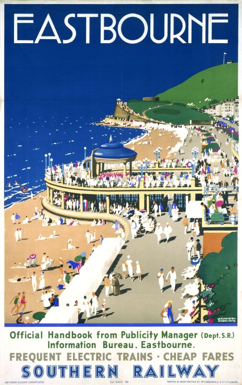 Eastbourne . Frequent Electric Trains . Cheap Fares . Southern Railway