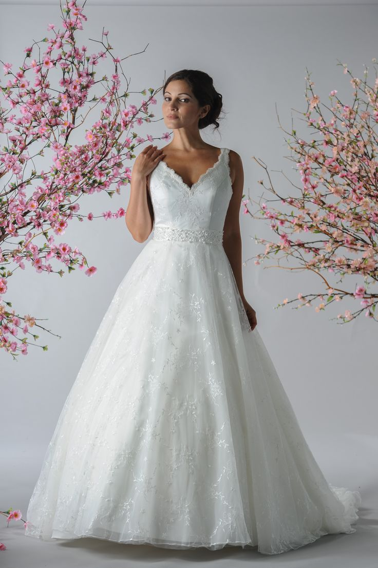 Bridalane Style 171, show with beaded belt BL#1