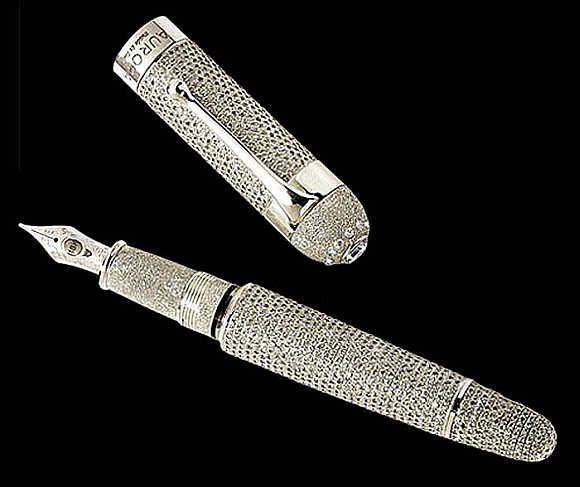 Aurora Diamante Fountain Pen, $1.47 million. ~ 10 most expensive pens in the world - Rediff.com Business