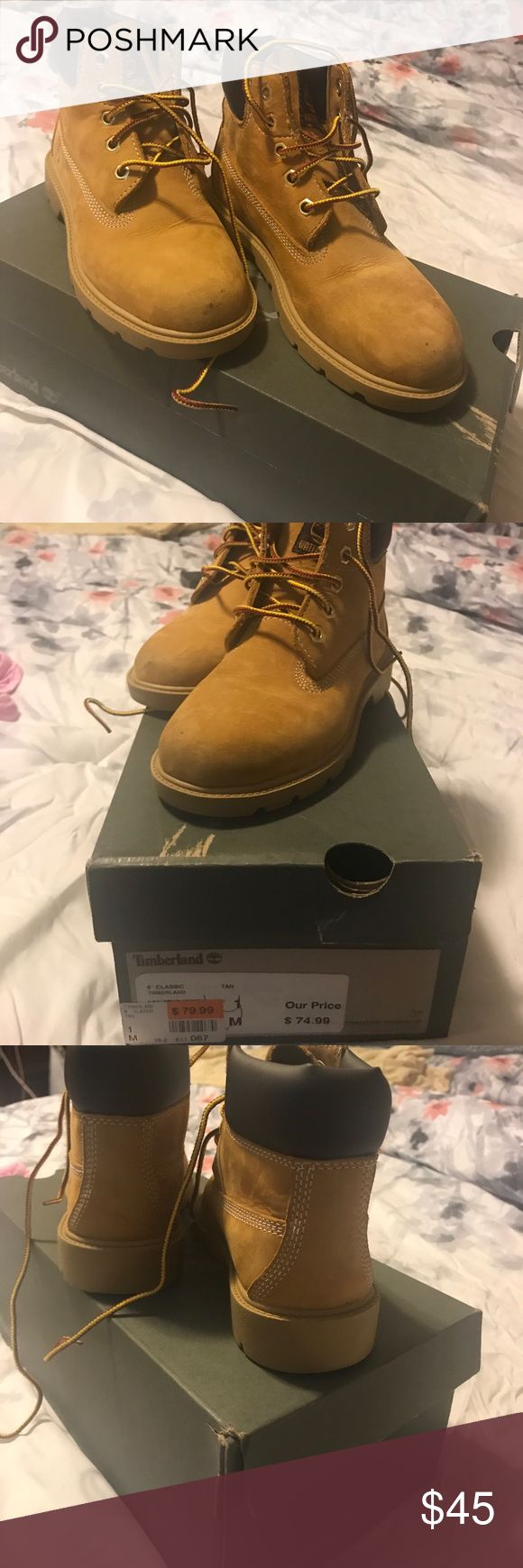 Kids Timberland Boots Gently worn just need a little cleaning in the front Timberland Boots Timberland Shoes Boots