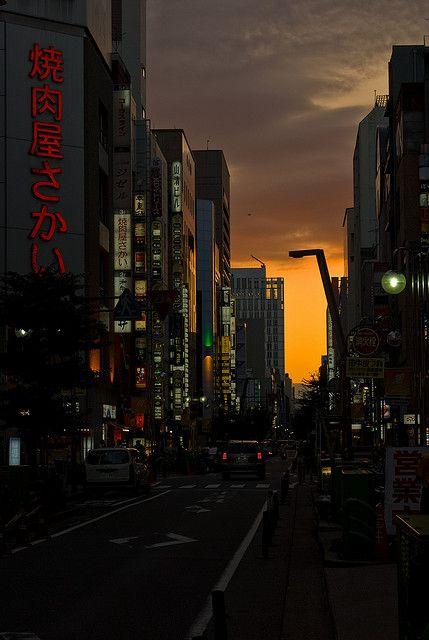 kyokujitsu-ki:    Nagoya Sunset by Andy Lane ~ Notts on Flickr.