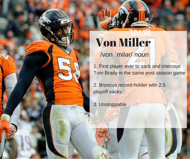 I am so happy right now!!! Von Miller signed with the Broncos today!!!! He's my favorite NFL player!!