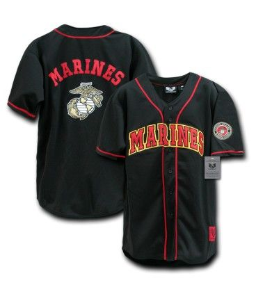 USMC Baseball Jersey (US Marines) **Hero Provisions: Off duty apparel, gear & gifts for Police, Fire, EMS, Military & Private Security**