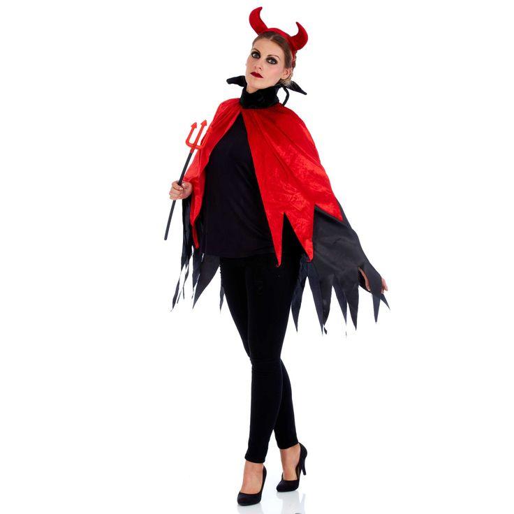 Disfraz de demonio                                                                                         negro/rojo Mujer