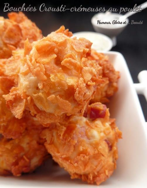 Bouchées Crousti-crémeuses au poulet |   Un snack sain pour un plateau télé? Une mise en bouche savoureuse et légère? Ne cherchez plus