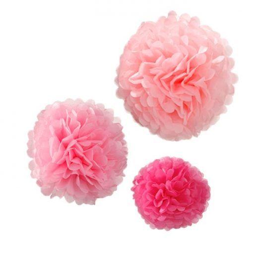 Pompons pink mix