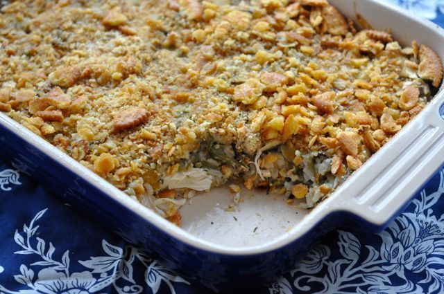#casserole #crackers #chicken #almonds #buttery #s…