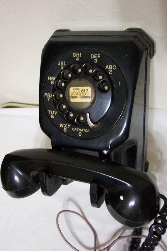 Bakelite Wall Mount Telephone Bakelite Telephone by LuRuUniques, $110.00