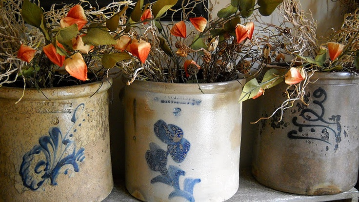 Crocks: Primitives Antiques Country, Glazed Crocks, Beautiful Crocks, Country Primitive Farmhouse, Country Crocks, Crocks Jars Jugs Pottery, Old Crocks, Primitive Decor