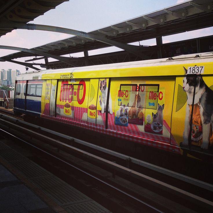 Skytrain the ultimate billboard #Bangkok