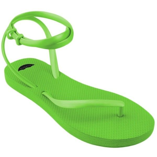 FLEEPS Women's Lime Green Flip Flop Sandals Unique, Stylish,... ($30) ❤ liked on Polyvore featuring shoes, sandals, flip flops, wide fit shoes, wide width sandals, wide shoes, lime green shoes and wide fit sandals