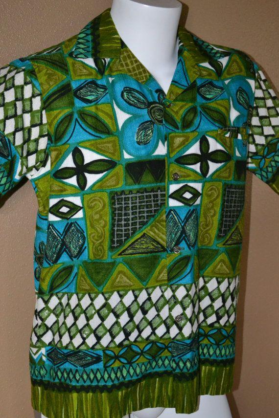 a1f4d01e8cc Vintage 50 s 60 s Waikiki Wear Honolulu Hawaii Shirt Cotton ...