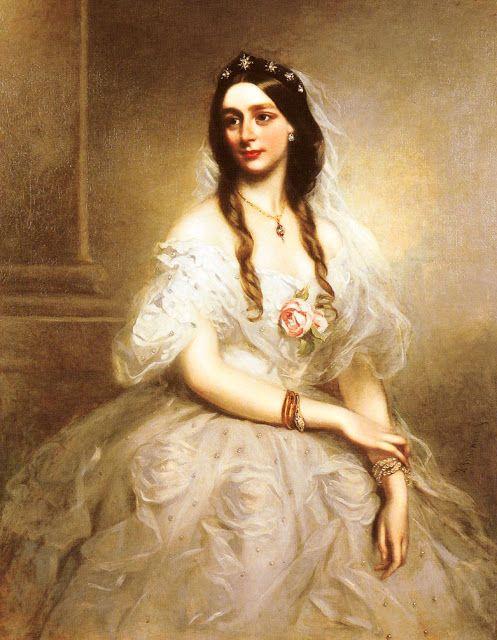 Richard Buckner (1812-1883) Portrait of Mrs C.W.Stoughton ...