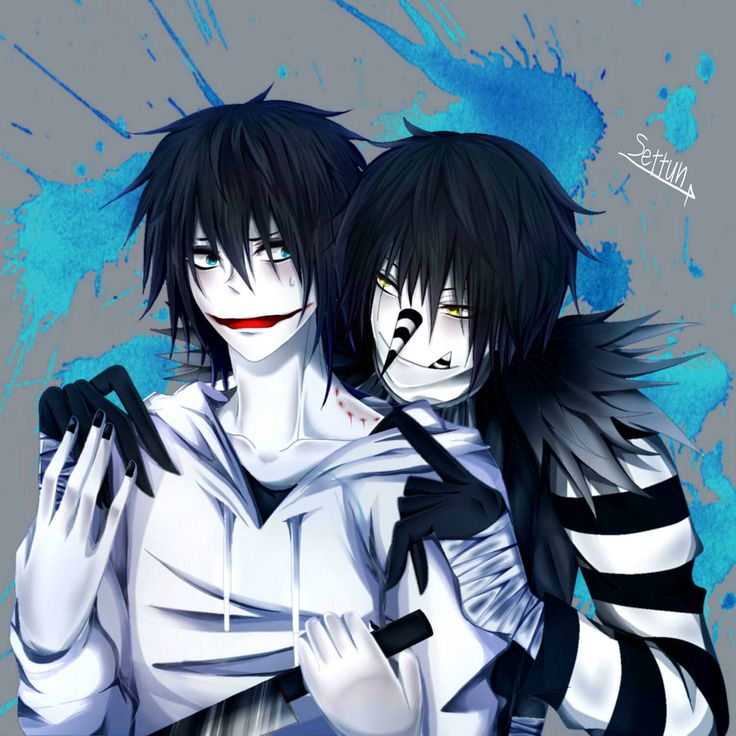 Anime Characters Laughing : Laughing jack jeff the killer by settun viantart